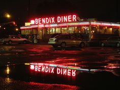 Bendix Diner on a rainy night by Kethera, via Flickr RP by http://anwar-mansour-dch-paramus-honda.socdlr.us