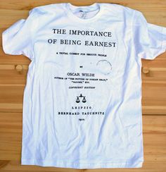Importance of Being Earnest  Men  Large by Aoristic on Etsy, $22.00