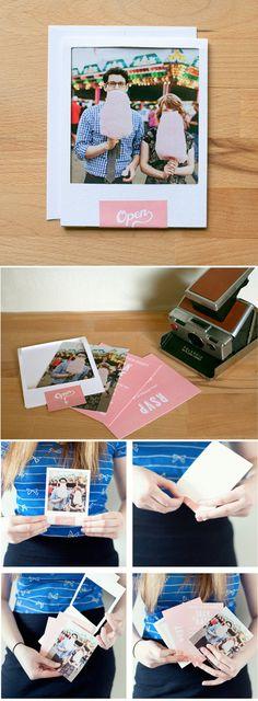 cute polaroid inspired invite