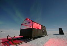 This tiny house on a sled is the perfect way to see the Northern Lights