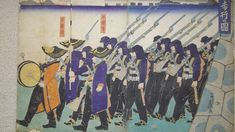 Boshin war era samurai with modern rifles and bayonets.