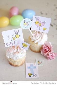 Love these cute Printable Easter Tags! Would make adorable stickers for Easter baskets.