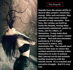 The Emotional Residue Within an Empath - You are in the right place about The Emotional Residue Within an Empath Tattoo Design And Style Gal - Spiritual Health, Spiritual Wisdom, Spiritual Awakening, Psychic Empath, Intuitive Empath, Empath Traits, Empath Abilities, Angry Person, Highly Sensitive Person