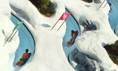 Snow Stormers at Disney's Blizzard Beach Water Park are 3 slalom-style racing course waterslides designed for big kids, teens and adults that use toboggan-style mats to slide down.