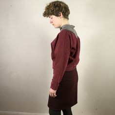 Ich bin ein Upcyclingprodukt. TETZLOVEDESIGN. Falscher Kragen. Upcycling Fashion, Upcycle, Normcore, High Neck Dress, Fashion Design, Dresses, Style, Fashion Styles, Turtleneck Dress