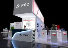 Exhibitions design - PGZ on Behance Show Booth, Exhibition Stands, Stage Design, Booth Design, Trade Show, Exhibitions, Favorite Things, Behance, Graphic Design