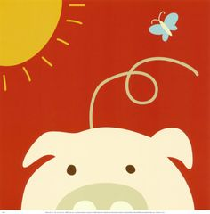 Peek-a-Boo IV, Pig Posters by Yuko Lau at AllPosters.com