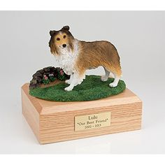 a6bbfad687e GENUINE North American Hardwood and Sheltie Dog Figurine Urn Sable Small     Read more reviews