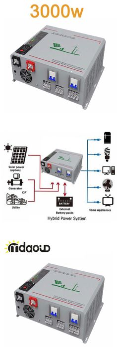 OFF GRID hybrid solar inverter 3000W/6000W PEAKING DC12/24V/48V 220V/MPPT CONTROLLER/PC REMOTE CONTROL/CABLE