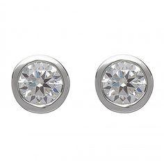 Crystal White Stud Earrings