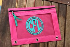 Personalized Monogram  Pencil Case Pouch Back to by TGNCreations, $7.00