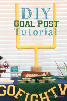She's {kinda} Crafty: DIY Goal Post Tutorial and $200 Giveaway