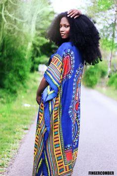 Dashiki Kimono DASHI-KIMONO Ankara africain Cardigan en Indigo