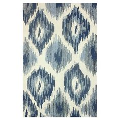 Flatweave wool and art silk rug with an ikat-inspired diamond motif. Made in India.   Product: RugConstruction Material:...