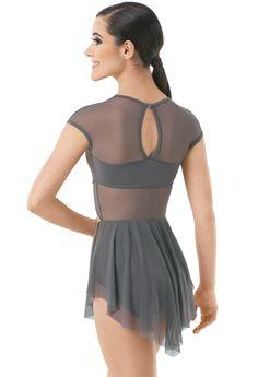 Mesh Cap Sleeve Dress With Cutout | Balera™