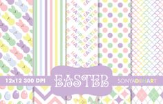 #Easter #DigitalPattern #PaperPack  - Download - http://luvly.co/
