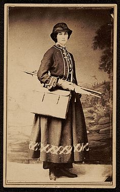 Citation: Fidelia Bridges, ca. 1864 / unidentified photographer. Oliver Ingraham Lay, Charles Downing Lay, and Lay family papers, Archives of American Art, Smithsonian Institution.