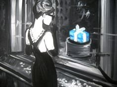 Breakfast at Tiffany's - Painting with a Twist (Original)