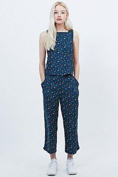 Cooperative by Urban Outfitters Bug Co-Ord Tank in Navy #covetme #cooperativebyurbanoutfitters