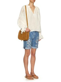 Bandana cotton-voile blouse | Bliss and Mischief | MATCHESFASHION.COM