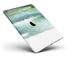 "Greenish Watercolor Strokes Full Body Skin for the iPad Pro (12.9"" or 9.7"" available) from DesignSkinz"