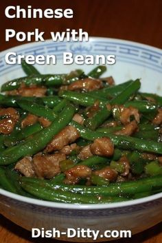 Chinese Pork with Green Beans Recipe – Dish Ditty Recipes - Recipes Healthy Pork And Green Beans Recipe, Green Bean Recipes, Pork Recipes, Asian Recipes, Cooking Recipes, Healthy Recipes, Chinese Recipes, Chinese Beans Recipe, Chinese Food