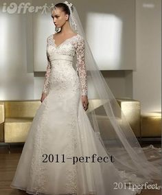 simple long sleeve lace wedding gowns | All Lace Wedding Dress With Sleeves