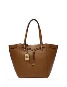 91bb2168783fa Lauren Ralph Lauren Leather Oxford Tote