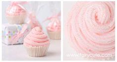 Mini soap cupcake favors - love the glitter on top!