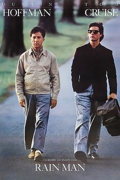 Rain Man - When Charlie Babbitt goes home to the Midwest for his estranged father's funeral, he learns not only that he's been cut out of his inheritance, but that he has a grown brother...Raymond...who has been sheltered almost all of his life in an East Coast institution for the developmentally disabled.