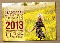 "Graduation Announcement, Graduation Invitation: PRINTABLE (2013 Graduation Announcement ""Graduating Class"")."