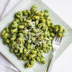 Kale walnut pesto pasta -add chicken or fish to give it a protein boost