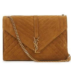 bcbfd71af08 Mahon Joyero Gold Satchel (€2.175) ❤ liked on Polyvore featuring ...
