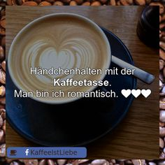 Händchenhalten mit der #Kaffeetasse.  Man bin ich romantisch.