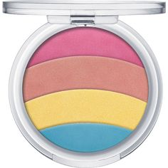 Essence Rainbow Glow Highlighter 10 (5.91 AUD) ❤ liked on Polyvore featuring beauty products, makeup, face makeup, filler and highlight makeup