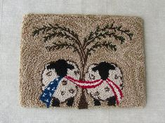 The sheep with a willow tree is a very traditional, primitive look. This pattern combines that traditional motif with an Americana theme. Complete your country decor with this Patriotic punch needle pattern. **Punch Needle Pattern is a .pdf file ~ see below if you prefer a paper pattern.** When finished, it measures approximately 6 1/2 x 5.  Pattern includes: Printing Instructions Punching Pattern Floss Color List & Quantity Needed ~ This pattern uses both DMC and Valdani flosses. Co...