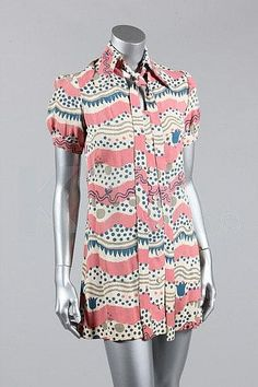 1960s Radley dress, with pattern by Celia Birtwell