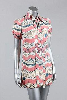 1960s Radley dress, with pattern by Celia Birtwell