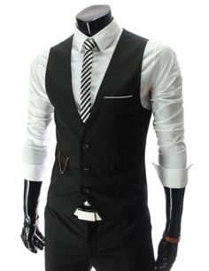 TRURENDI New Men slim FIT waistcoat Vest Casual Business Waistcoat Vest tops (Asia M (US XS), Black) Other,  To SEE or BUY just CLICK on AMAZON right here http://www.amazon.com/dp/B00EYYV4WG/ref=cm_sw_r_pi_dp_uNeDtb1V5KP8EQEW