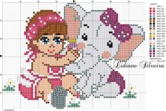 Hama Beads Patterns, Beading Patterns, Cross Stitch Patterns, Baby Crafts, Diy And Crafts, Elephant Cross Stitch, Diy Perler Beads, Cross Stitch Charts, Teddy Bear