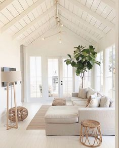 Best Summer Living Room Trends of Best Summer Living Room Trends of 2019 - Decoholic. If you have been looking to have a living room makeover but never got round to doing it, you're just in time to sample the best ideas for revamping the. Living Room Trends, Home Living Room, Living Room Designs, Living Spaces, Small Living, Living Room Decor Beach, Living Room White Walls, Neutral Living Rooms, Hamptons Living Room