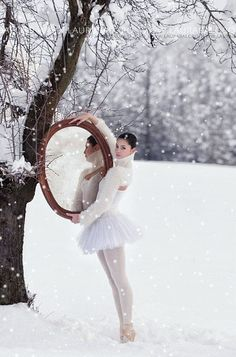 #Christmas #Snow #Ballerina