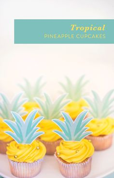 Tropical pineapple cupcakes: http://www.stylemepretty.com/living/2017/03/06/ladies-who-luau-birthday-celebration/