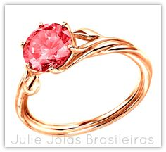 Anel em ouro rosé 750/18k e turmalina (750/18k rosé gold ring with tourmaline)