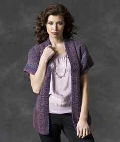 Cuff to Cuff Sweater RED HEART® Boutique Treasure®: 5 (6, 7, 8, 9) balls 1913 Spectrum Knitting Needles: [US 9]