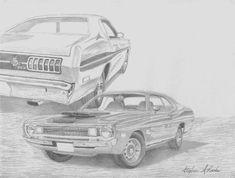 1972 Dodge Demon, Rook, Print Artist, Fine Art America, Classic Cars, Muscle, Black And White, Art Prints, Wall Art
