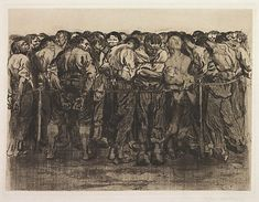 The prisoners, (1908) by Käthe Kollwitz :: The Collection :: Art Gallery NSW
