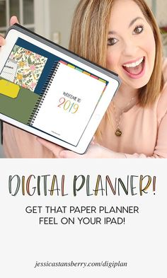 Digital Planner for iPad with Goodnotes app. By Jessica Stansberry | Take your planner and to-do lists on the go with this amazing iPad planner to help you get organized this year! #planner #digitalplanner #organize #organization #organizing #planning