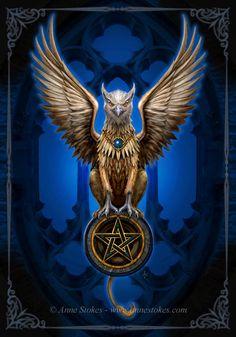 Hipogrifo:  Animal mitológico que tiene la mitad superior de águila, y la mitad inferior de león, normalmente rampante y de perfil; y rara vez se le pinta sentado.