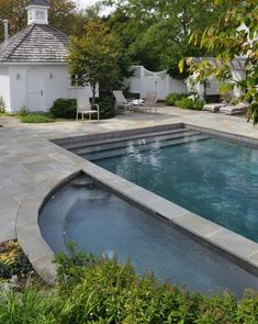 Pool House Plans - Browse swimming pool plans to catch inspiration for your personal courtyard oasis. Determine pool deck ideas and remodeling. Backyard Beach, Swimming Pools Backyard, Swimming Pool Designs, Pool Landscaping, Beach Pool, Lap Swimming, Lap Pools, Backyard Kitchen, Indoor Pools